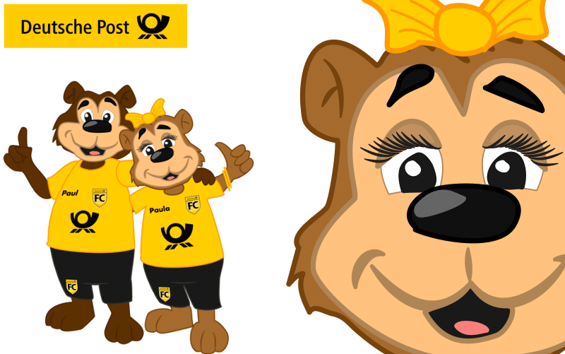 Mascotte Ontwerp Deutsche Post door Promo Bears