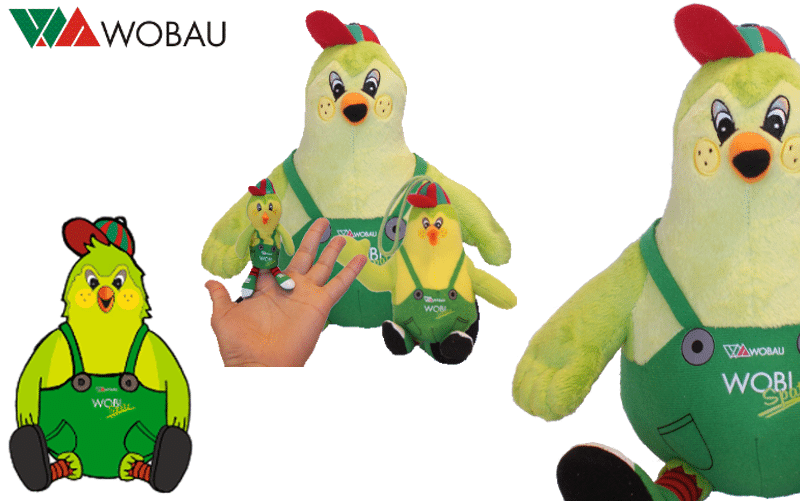 Custom Plush toys - Wobau - Wobi -Promo Bears-