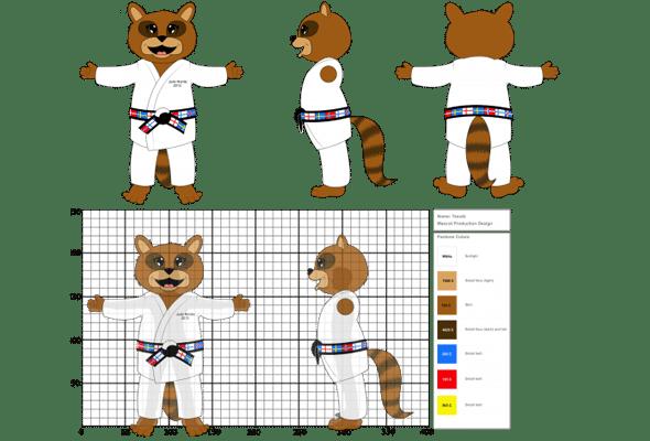 Mascotte Concept Illustratie Promo Bears