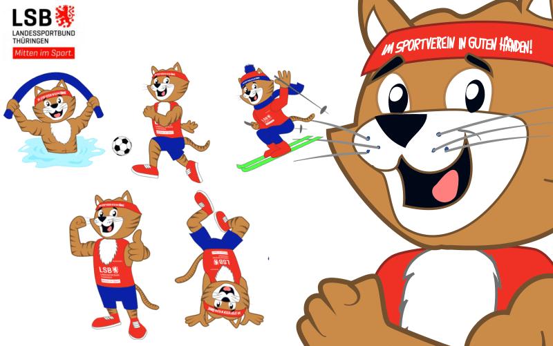 Mascotte ontwerp Kater voor LSB door Promo Bears