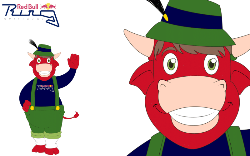 Mascotte Ontwerp Red Bull Spielberg Ring door Promo Bears