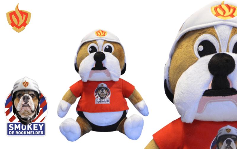 Referentie project Smokey knuffel voor de brandweer knuffels laten maken -Promo Bears-