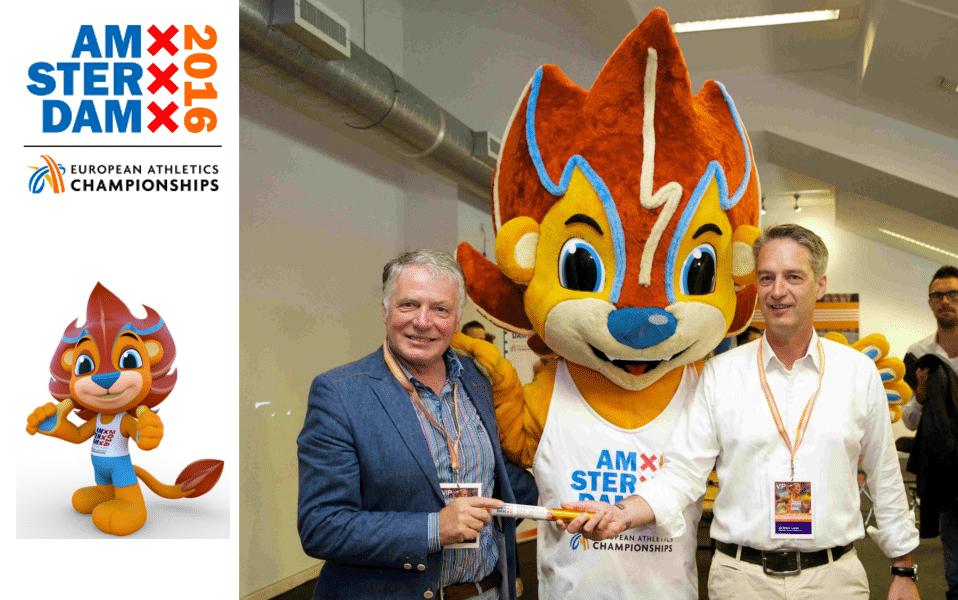 Mascottepak Adam voor Europese kampioenschappen Atletiek 2016 -Promo Bears -