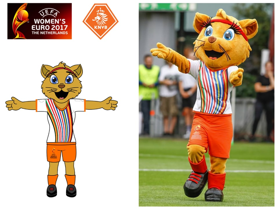 Mascottepak Kicky gemaakt voor WEURO 2017 en KNVB door Promo Bears