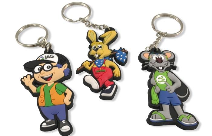 Sleutelhangers van uw mascotte laten maken -Promo Bears-