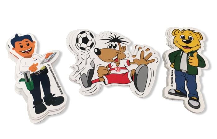 Stickers op maat gesneden in het contour van uw mascotte -Promo Bears-