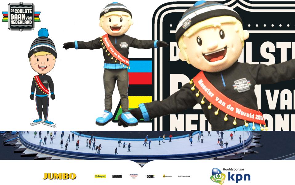 Mascottepak Coolio voor de Coolste Baan van Nederland gemaakt door Promo Bears