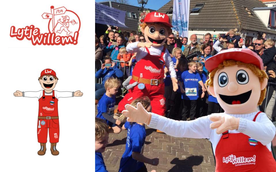 Mascottepak Lytje Willem Schiermonnikoog gemaakt door Promo Bears