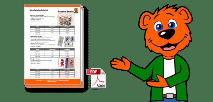 Download Prijslijst Mascotte relatiegeschenken Promo Bears