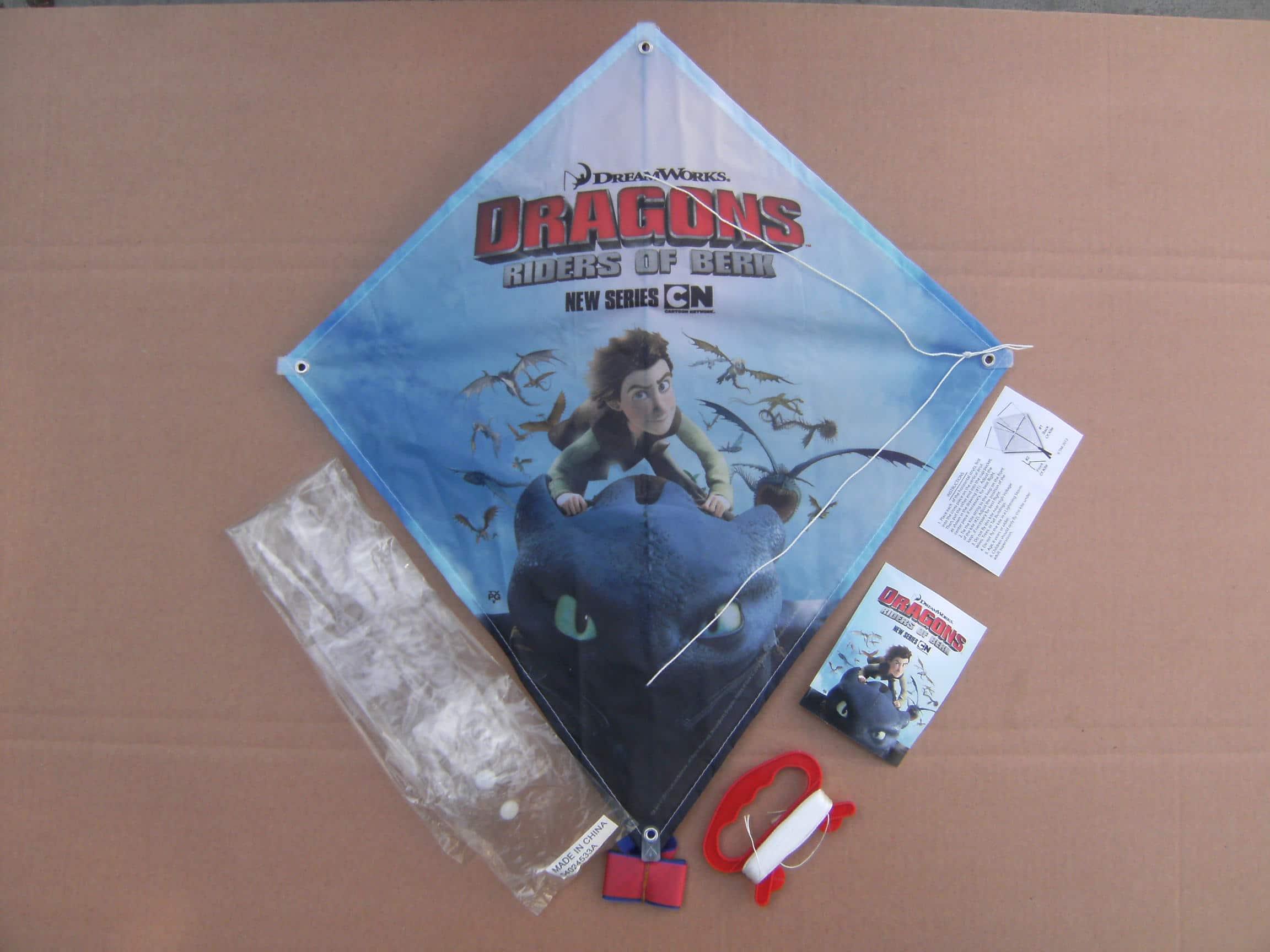 Voorbeeld Vliegers laten bedrukken Dragons -Promo Bears-