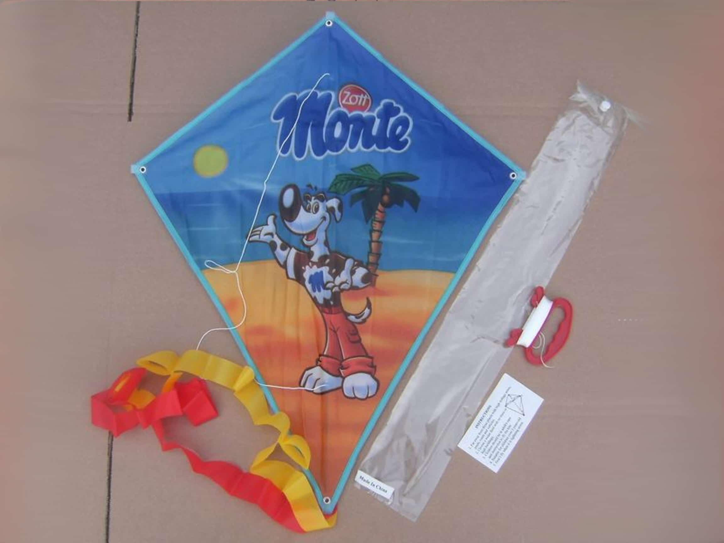 Voorbeeld Vliegers laten bedrukken Monte mascotte -Promo Bears-