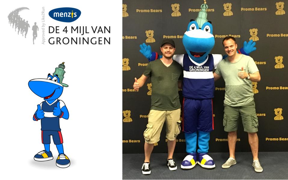 Mascotte Timey de 4 Mijl van Groningen -Promo Bears-