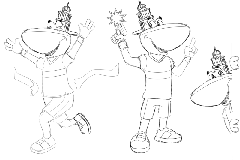 Referentie-Project-Timey-Mascotte_poses-Schetsen