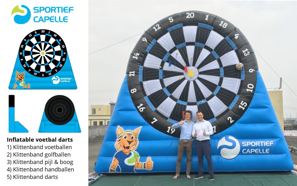 Inflatable voetbal dartbord 5 meter hoog -Promo Bears-