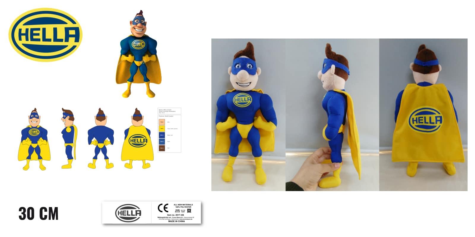 Knuffels laten maken Superheld voor Hella 30 cm -Promo Bears-